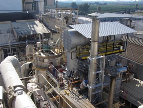 Instalación de reactor de oxidación térmica regenerativa de covs