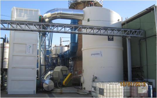 Instalación de tratamiento de gases de combustión | INTERNATIONAL F&F