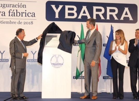 Felipe VI inaugurates YBARRA's new Factory projected by Grupotec