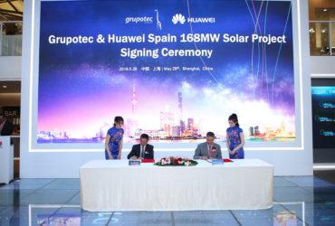 Grupotec se asocia con Huawei para construir un proyecto fotovoltaico de 168 MW en España