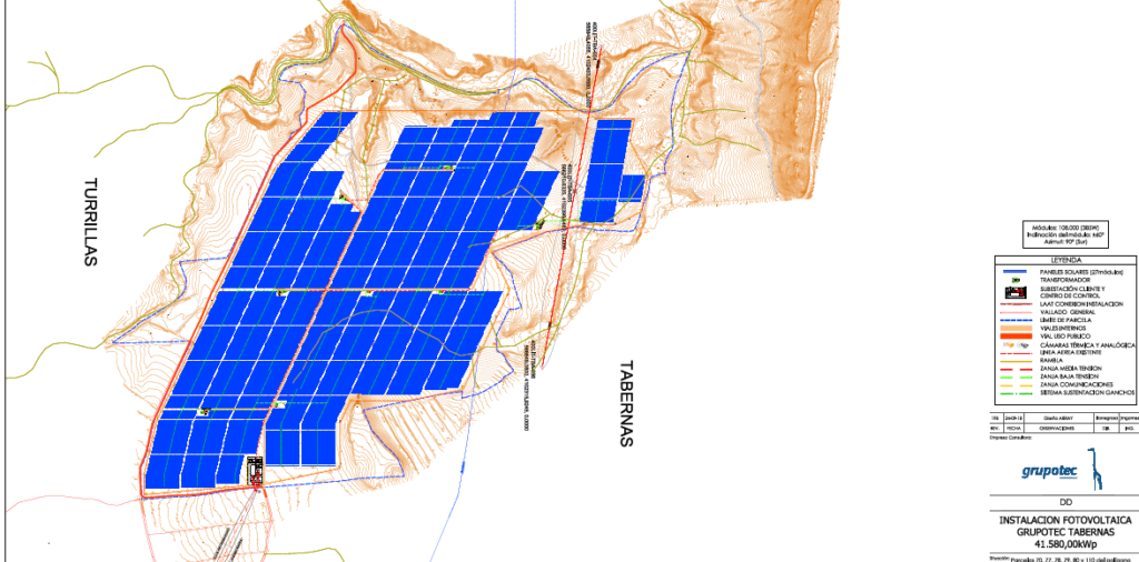 Grupotec ensures its financing for a photovoltaic park of 41,6MW in Tabernas (Almería)