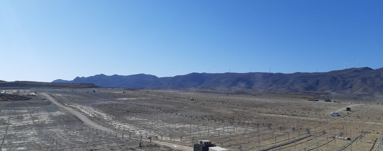 Grupotec has started the construction of the Photovoltaic Plant in the Tabernas Desert (Almería)