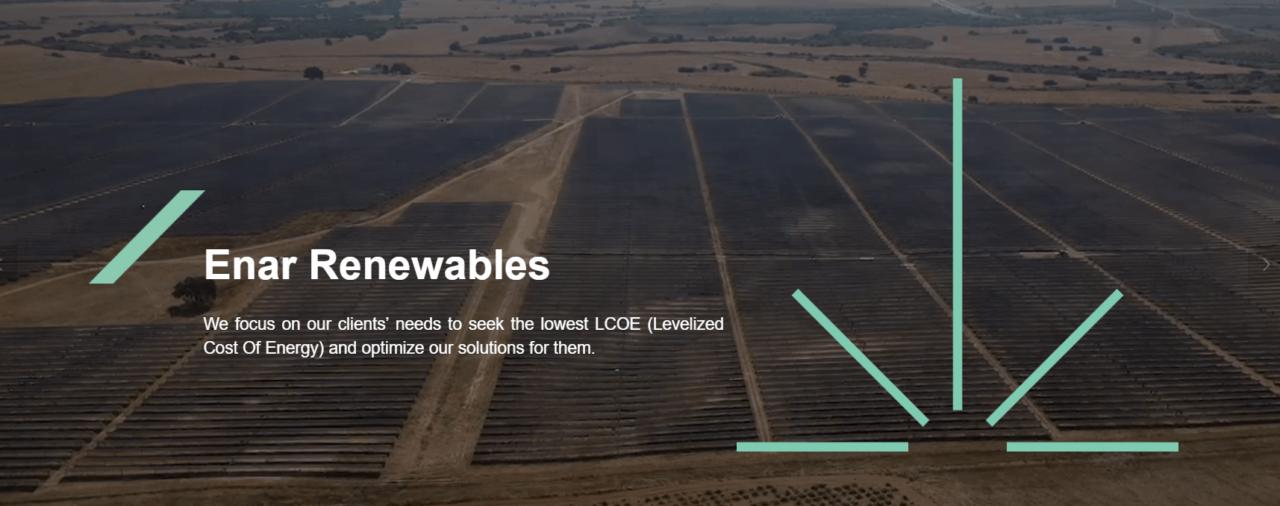 Disponible la web de ENAR Renewables, nuestra joint venture en Arabia Saudí
